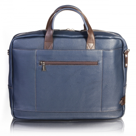 BRIEFCASE 1 COMPART BLUE